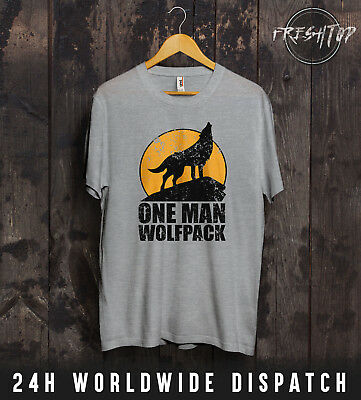 One Man Wolfpack T Shirt The Hangover Alan Gift Tee Top Funny Comedy Movie TV