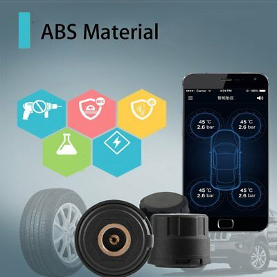 4X Bluetooth 4.0 TPMS Tire Pressure Monitoring System External Sensor For PhonWG