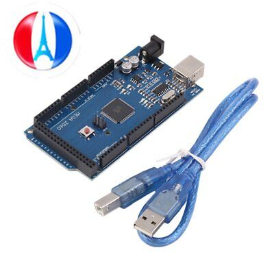 Mega 2560 R3 REV3 ATmega2560-16AU Board USB Cable Compatible For Arduino WG