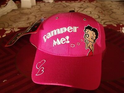 "Betty Boop ""PAMPER ME"" Cap-New with tags"