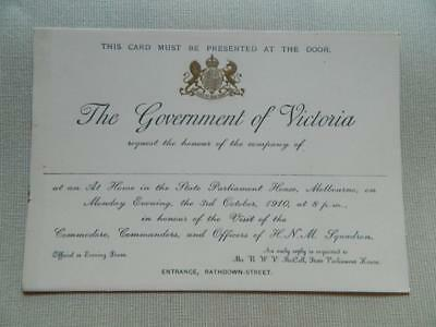 1910 The Government of Victoria At Home in The State Parliament House Melbourne.