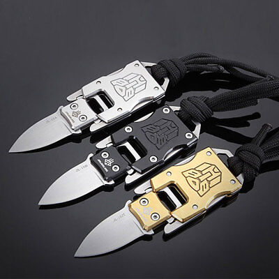 Folding Outdoor Camping Knives Keychain Practical Travel Survival Portable