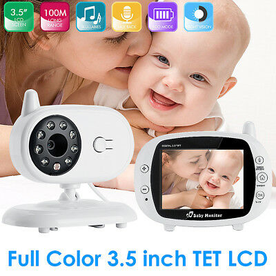 3.5″ HD Video Wireless Baby Monitor 2.4GHz Night Vision Security Camera Viewer
