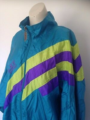 "Men's Vintage 90s ""Alex Athletics"" Blue Windbreaker Sports Athletic Jacket L"