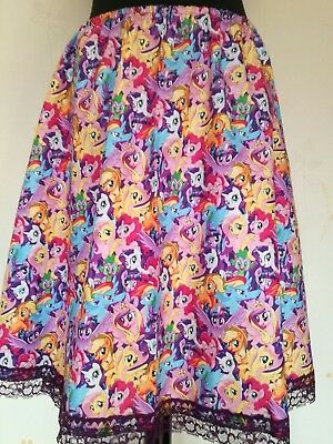 SKIRT RETRO 50/'S STYLE NEW SUGAR SKULL  GOTHIC BOW GOTHIC MADE TO MEASURE