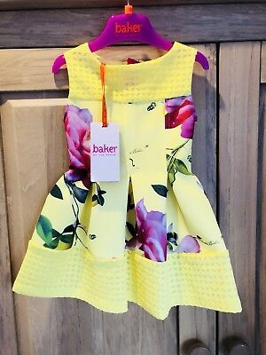 Ted Baker Dress Size 12-18 Months Yellow