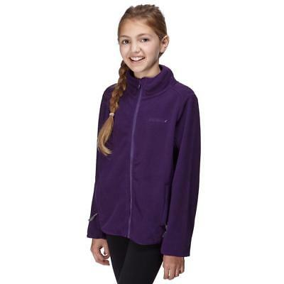 Peter Storm Girls' Stormy Full Zip Fleece Outdoor Clothing Purple