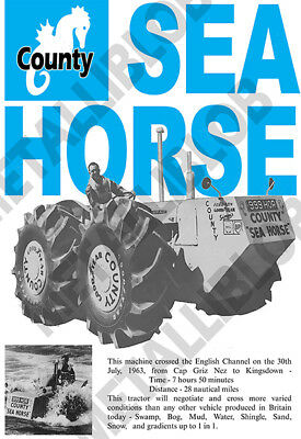 Fordson County SEA HORSE (Tractor Crossed English Channel) - Leaflet/Brochure