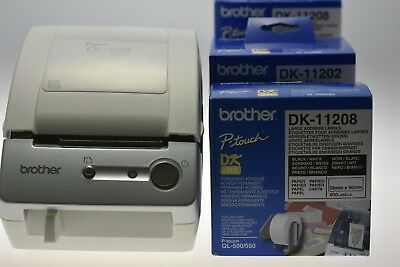 BROTHER QL-500 Etikettendrucker  plus  4 ADRESS- ETIKETTENROLLEN