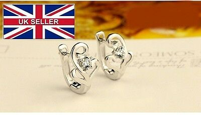Sterling silver earrings, Ear buckle high quality birthday gifts crystal earring