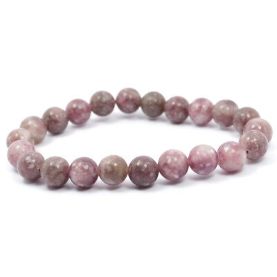 Reiki Crystal Products Pink Tourmaline 8mm Bracelet Crystal Natural Gemstone
