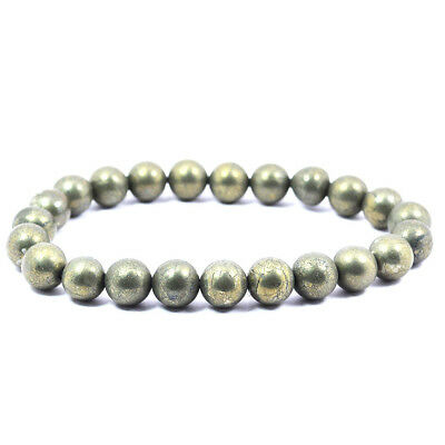 Reiki Crystal Products Pyrite 8mm Bracelet Crystal Natural Gemstone
