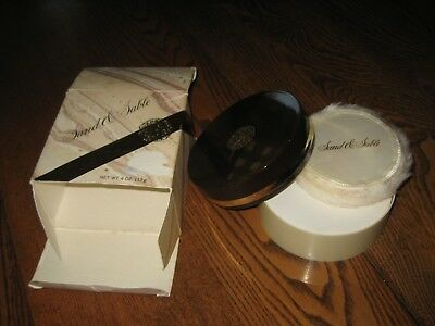 Vtg New Old Stock Sand & Sable Dusting Perfumed Body Powder 4 Oz Boxed