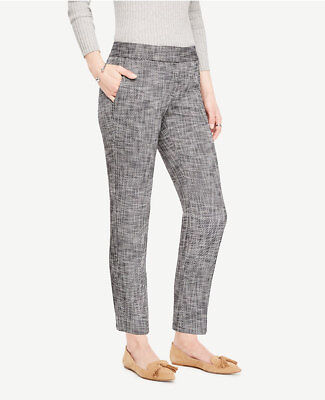 Ann Taylor - Size 10 Black Ankle Pant in Textured Stretch - Devin Fit $98