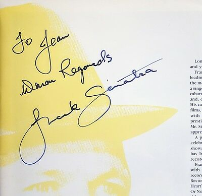 1990 FRANK SINATRA autographed signed concert programme from the London Arena