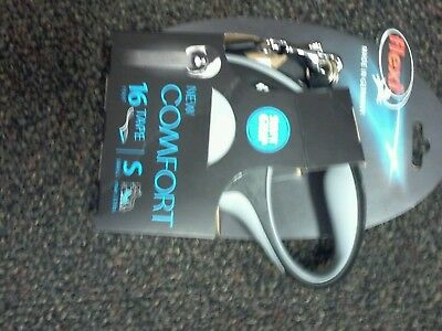 Flexi New Comfort Retractable Tape Leash 16' ft Grey Small Dogs 33lbs max