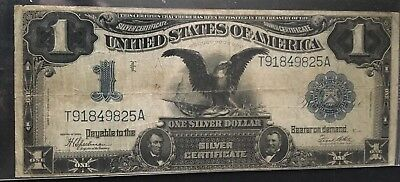 Series Of 1899 $1 One Dollar Black Eagle Silver Certificate