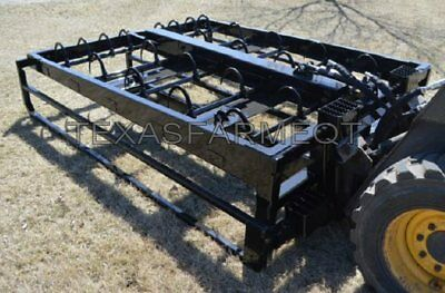10 Bale Sk​id Steer,Euro,Global,Loader Hay Bale Accumulato​r Grapple,St​acker