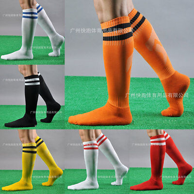 Mens Football Plain Long Socks Adult Knee High Rugby Hockey Soccer UK