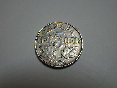 1925 Canada 5 Cent VG