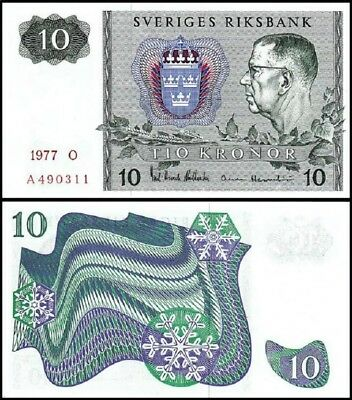 SWEDEN 10 Kronor, 1983, P-52d, World Currency