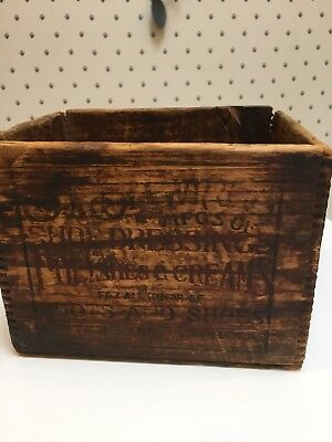 B. F. Brown & Co.  Very Old Dove Tailed Box.   Collectible!!!