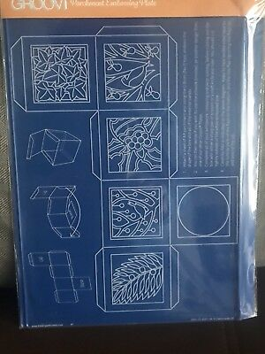 CLARITY STAMP GROOVI Parchment Embossing Plate A4 CHRISTMAS BOX TEMPLATE