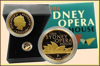 2006 Sydney Opera House 1/25oz. Gold Proof $5 Coin