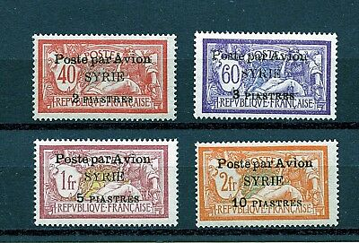 Syria #C18-C21 (SY137) Comp 1924 O/P Type C, Air Mail, MNH, VF