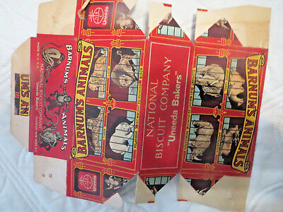 Vintage National Biscuit Company Barnum's Animals advertising box