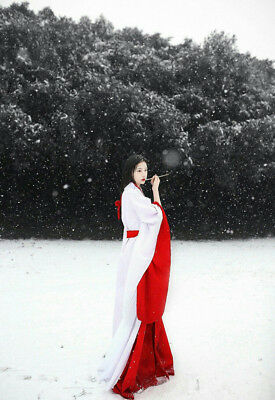 Chinese Han Fu Classical Beauty In the Snow - Smartphone Wallpaper - W056