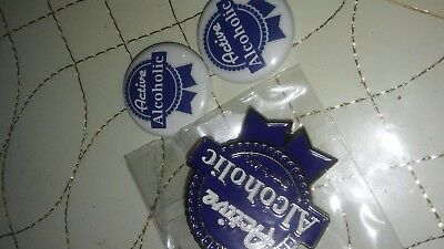 Rare Collectable Limited Edition PBR Beer Pabst Blue Ribbon pin and buttons