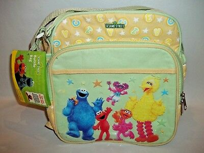 Sesame Street Big Bird Elmo Cookie Monster Bottle Diaper Carry Bag W/ Strap