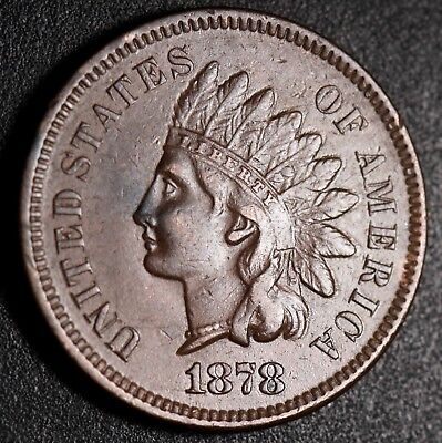 1878 INDIAN HEAD CENT With LIBERTY & DIAMONDS - XF EF