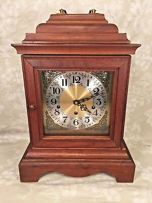 Vtg Mason & Sullivan Bracket Clock Westminster Chimes Runs Strikes Chimes
