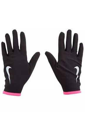 Nike Running Gloves Thermal Lightwieght Silicone Running Gloves Womens Pinkblack