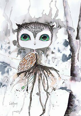 She dreamed of being an owl artists print