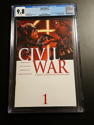 Civil War 1 CGC 9.8 Spider-Man Homecoming Infinity War Marvel 7/2006 WHITE PAGES