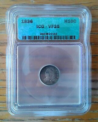 Excellent 1836 Capped Bust Half Dime---ICG VF-35