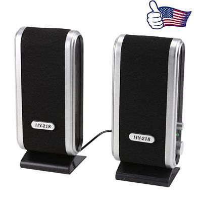 Portable USB Multimedia Stereo Speakers System For PC Laptop Computer Desktop US