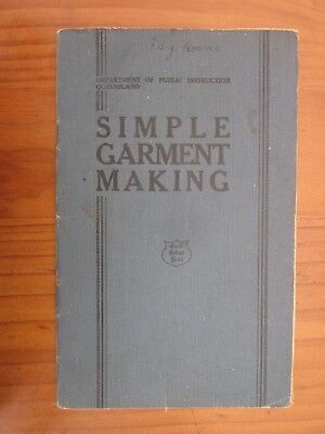 Vintage Department of Public Instruction Qld Simple Garment Making Sewing