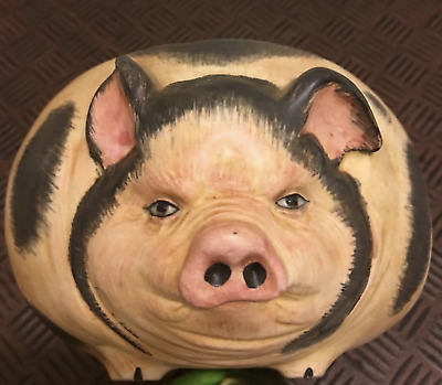 Antique Pig Jar - Hand painted MADE IN ITALY