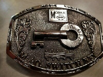 Vtg. Limited Edition M&O Switch Key Belt Buckle from Adezy Ent. Inc