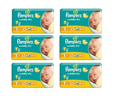 258 Stück Pampers Windeln New Baby Newborn 2-5kg Gr.1 Super Starter