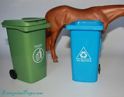 LSQ Mini 1/9 Scale Breyer Model Horse Recycle & Garbage Bins. Performance Prop
