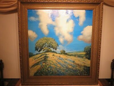 "36x34 original oil painting on board by Hardy Martin ""Texas Bluebonnets"""