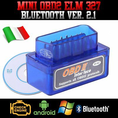 Super Mini OBD2 OBDII ELM327 v1.5 Android Bluetooth Adapter Auto Scanner Torque@