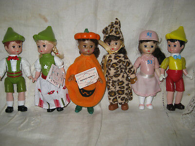 "6 MADAME ALEXANDER 5"" McDONALDS DOLLS - CUTE  COLLECTION"