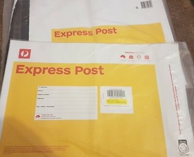 10 x 3kg Express Australia post satchels