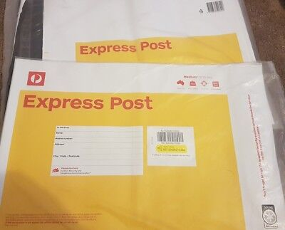 9 x 3kg Express Australia post satchels